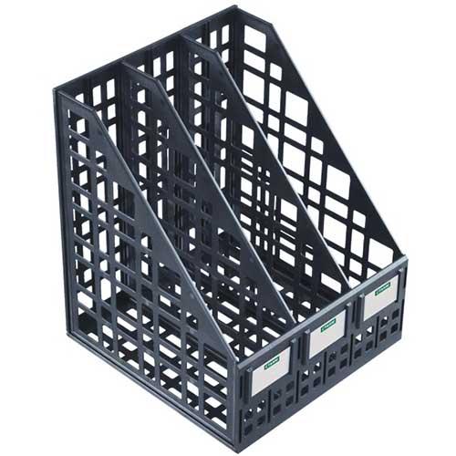 Лоток вертикальный сборный 3 секции черный