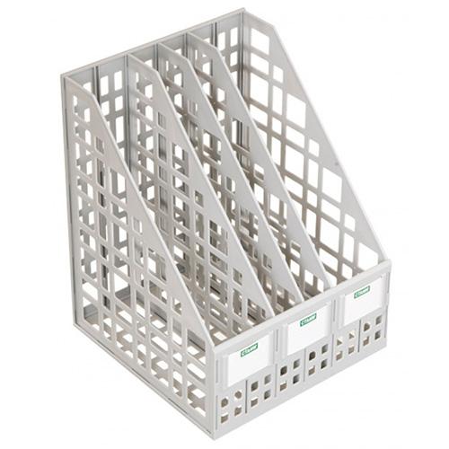 Лоток вертикальный сборный, 4 секции, серый