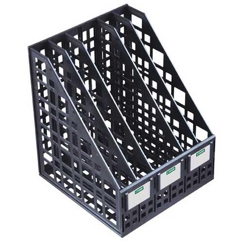 Лоток вертикальный сборный 5 секций черный