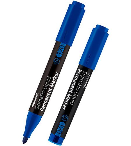 Маркер перманентный 120, синий, 2,0 мм, MonAmi