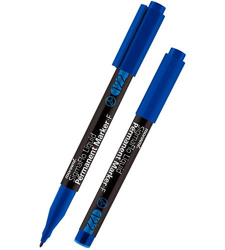 Маркер перманентный F, синий, 1.0 мм, MonAmi