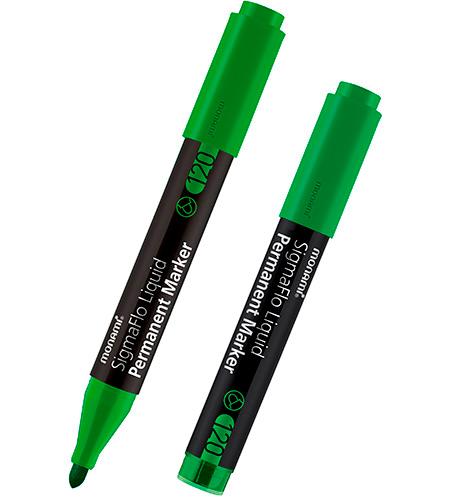 Маркер перманентный 120, зеленый, 2,0 мм, MonAmi
