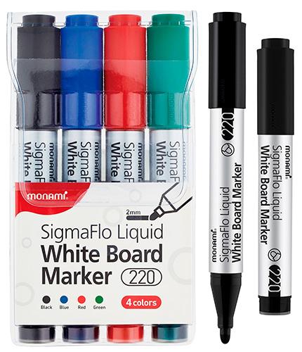 Набор маркеров для белой доски 4 цвета, 2.0 мм