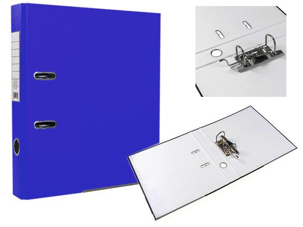 Регистратор А4, 50 мм, ПВХ, синий, ЭКО