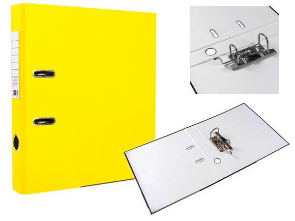 Регистратор А4, 75 мм, ПВХ, желтый, ЭКО