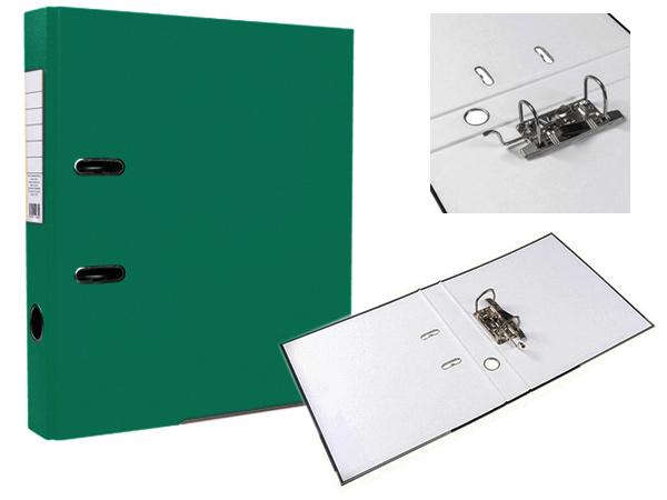 Регистратор А4, 75 мм, темно-зеленый, ЭКО
