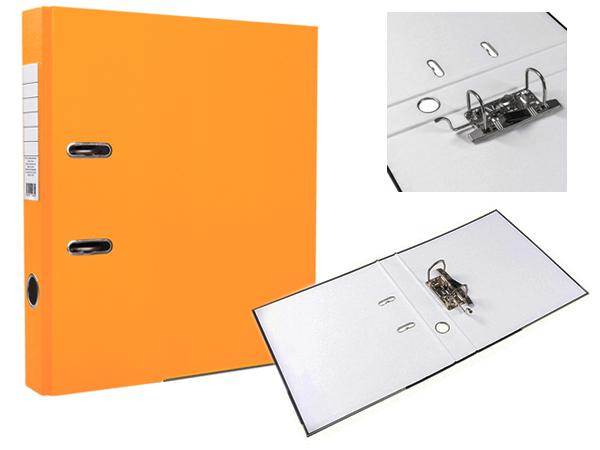 Регистратор А4, 75 мм, ПВХ, оранжевый, ЭКО