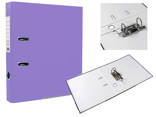 Регистратор А4, 75 мм, фиолетовый, ЭКО