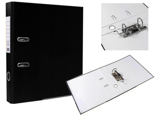 Регистратор А4, 75 мм, ПВХ, черный, ЭКО