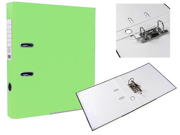 Регистратор А4, 75 мм, светло-салатовый, ЭКО