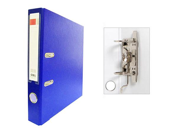 Регистратор А4, 50 мм, ПВХ, темно-синий, Deli