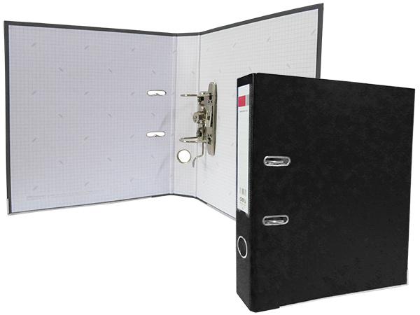 Регистратор А4, 75 мм, полипропилен, черный