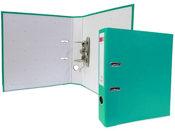 Регистратор А4, 75 мм, полипропилен, зеленый