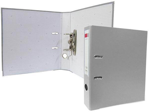 Регистратор А4, 50 мм, полипропилен, серый
