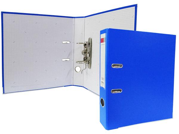 Регистратор А4, 50 мм, полипропилен, светло-синий, Deli