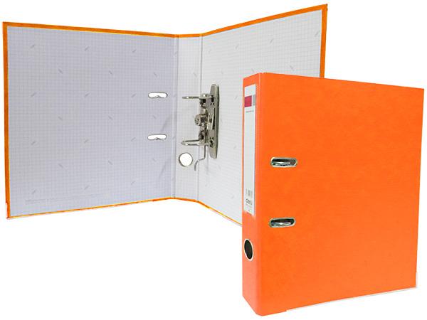 Регистратор А4, 50 мм, полипропилен, оранжевый