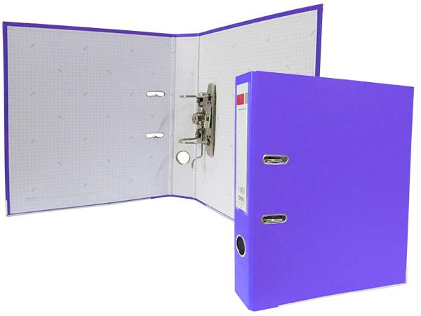 Регистратор А4, 75 мм, полипропилен, фиолетовый