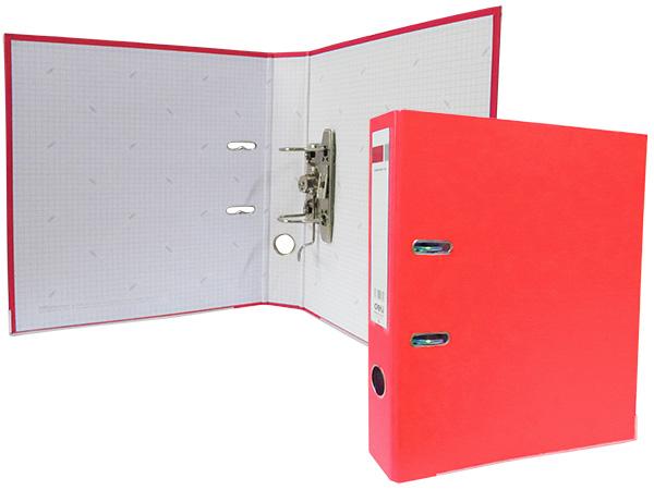 Регистратор А4, 75 мм, полипропилен, красный