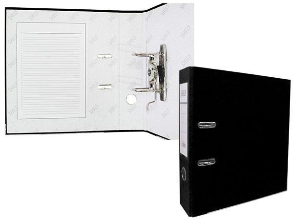 Регистратор А4 75 мм ПВХ черный арт. ТС-554S (010)