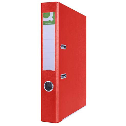 Регистратор А4, 50 мм, ПВХ. красный, Q-CONNECT