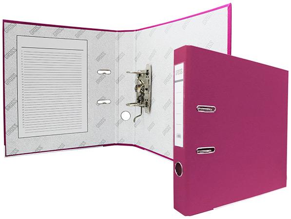 Регистратор А4, 50 мм, полипропилен, розовый, GROSS