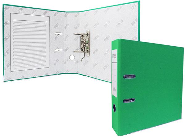 Регистратор А4, 75 мм, полипропилен, зеленый, GROSS