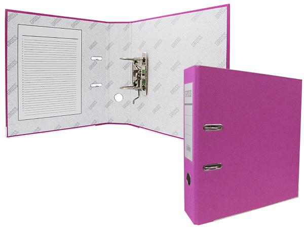 Регистратор А4, 75 мм, полипропилен, розовый, GROSS