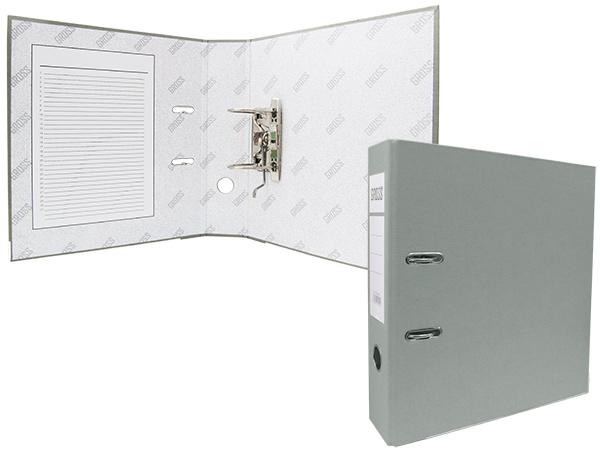 Регистратор А4, 75 мм, полипропилен, серый, GROSS