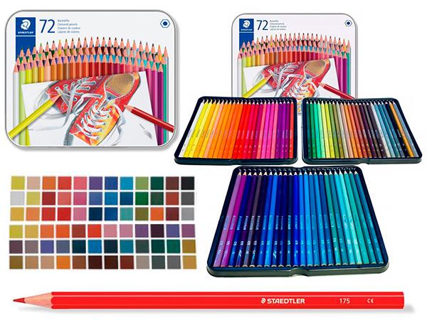Карандаши STAEDTLER, 72 цвета, в металлической коробке