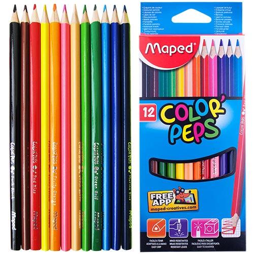 Карандаши Maped «COLOR PEPS», 12 цветов