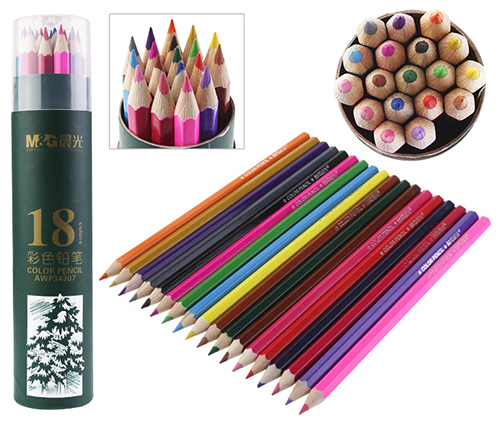 Карандаши M&G 18 цветов в пенале арт. 34307AWP