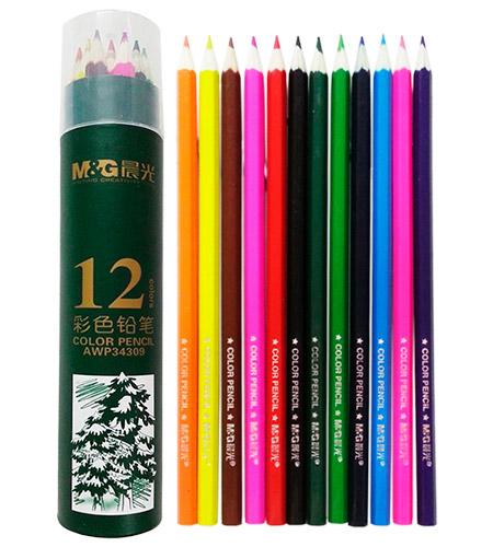 Карандаши M&G 12 цветов в пенале арт. 34309AWP