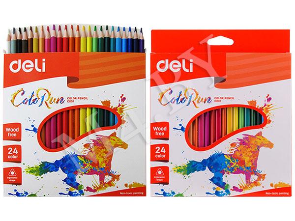 Карандаши 24 цвета треугольные пластиковые, ColoRun