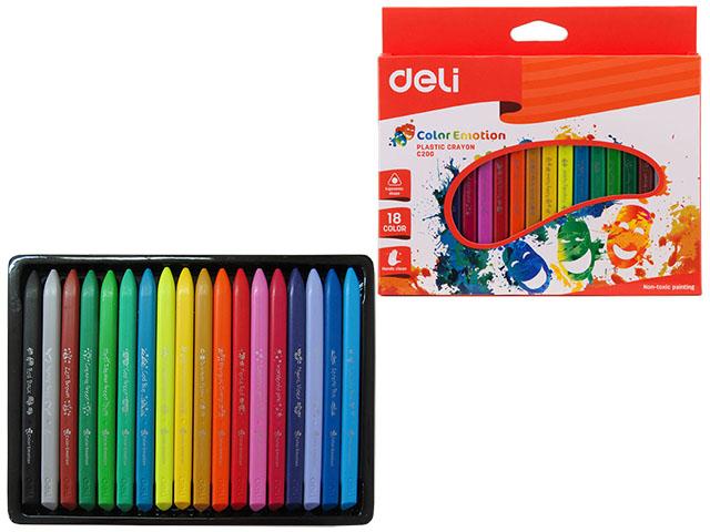 Карандаши 18 цветов треугольные цельнопластиковые, Color Emotion