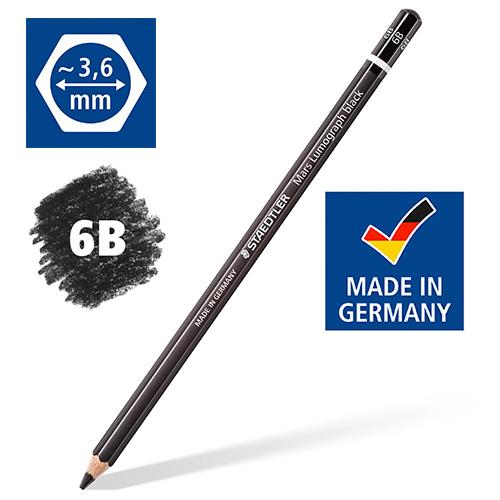 Карандаш 6B, «Mars Lumograph black» STAEDTLER, черный