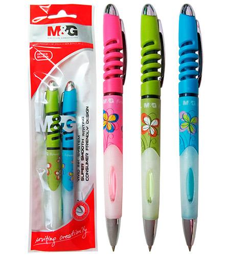 Ручка шариковая M&G синяя FLOWER арт. 85173АВР