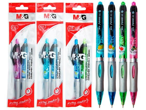 Ручка шариковая M&G ароматическая синяя AROMA арт. 87673АВР