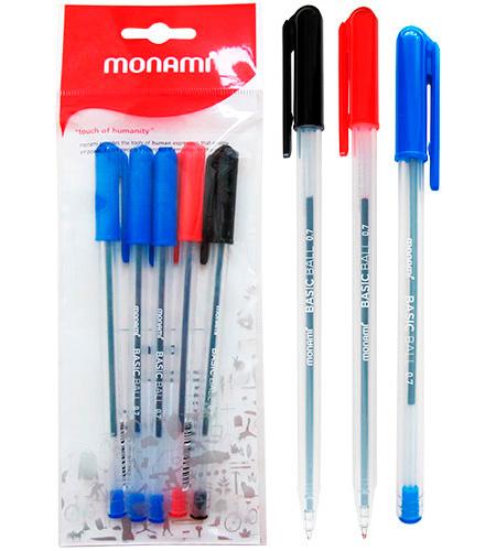 Ручка шариковая MonAmi синий стержень BASIC