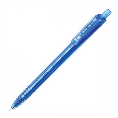 Ручка шариковая автоматическая, синий стержень, WRITO-METER RT, Flair