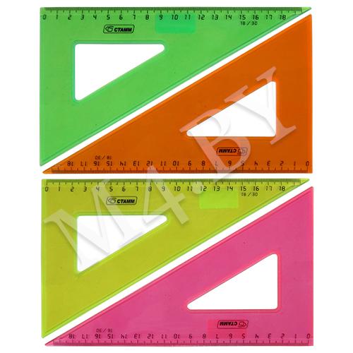 Треугольник 18*30 флюоресцентный прозрачный