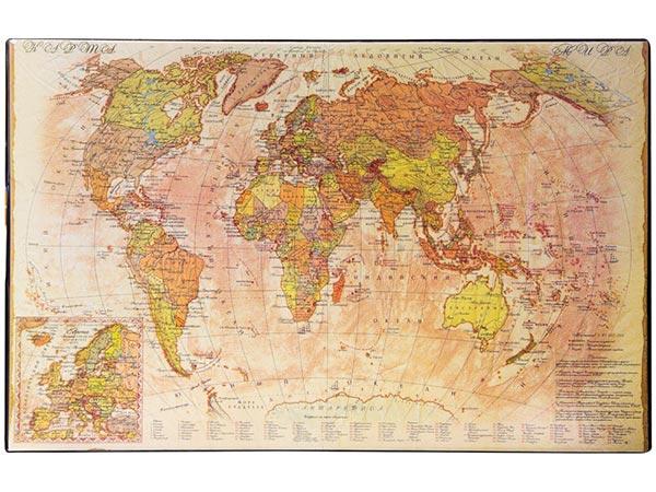 Подложка с картой Мира (РЕТРО), 590х380