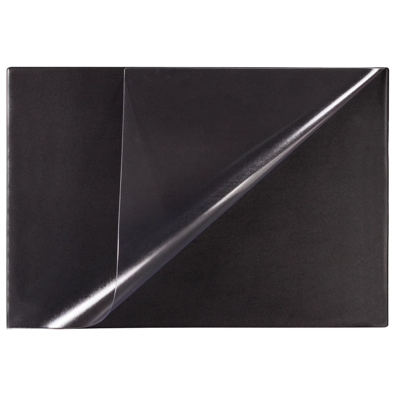 Подложка 450х650, черная, с прозрачным верхом, BRAUBERG