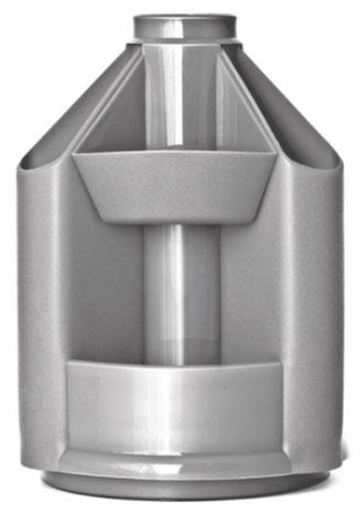 Органайзер без наполнения, серый металлик, MINI DESK