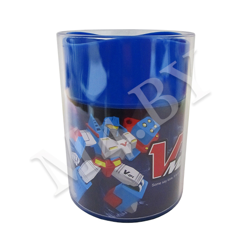 Подставка (стакан) для канцелярских принадлежностей, синяя
