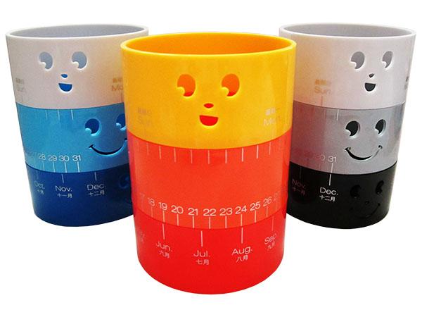 Подставка (стакан) для канцелярских принадлежностей трехцветный