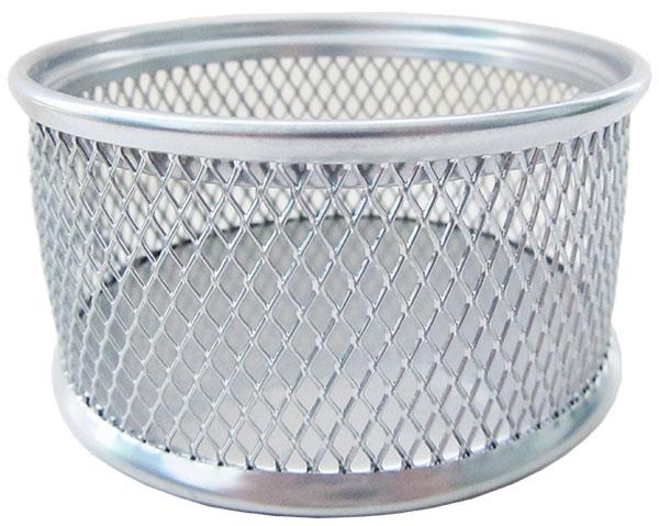 Подставка для канцелярских принадлежностей Horer металлическая круглая 4 сm*8 сm серебро арт. В802С05