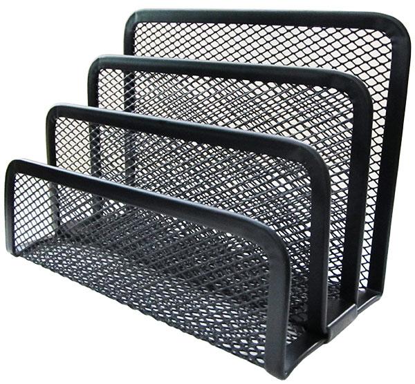 Подставка для канцелярских принадлежностей Horer металлическая 3 отделения черная арт. Z4807