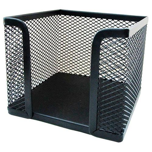 Подставка (бокс) для бумаг металлическая, черная