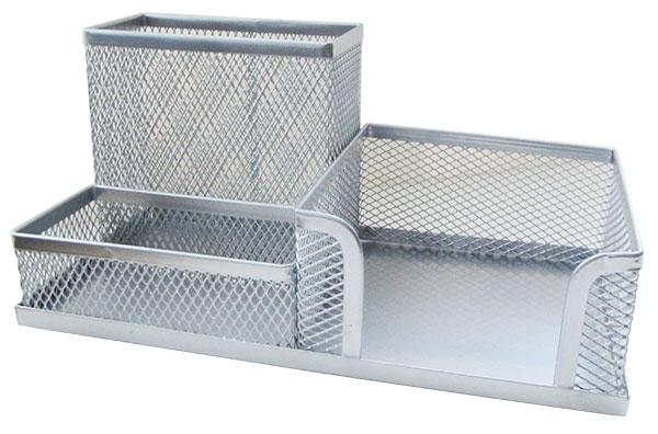 Подставка для канцелярских принадлежностей Horer металлическая серебро арт. Z9058