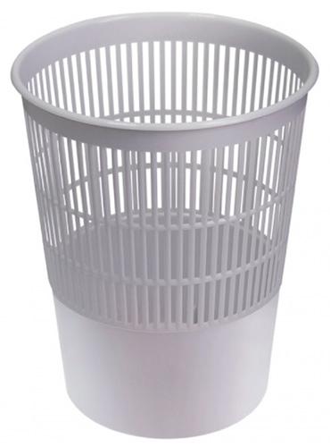 Корзина для бумаг 14 литров серая, сетчатая, СТАММ